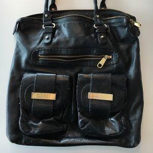 Badgley Mischka Large Black leather bag